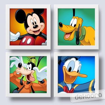 Mickey e sua Turma Quadros para quarto Infantil