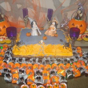 bolos doces halloween caveira bruxa