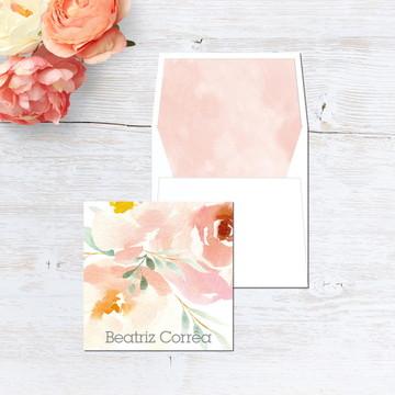 Cartão Social Floral Grace (Duplo)