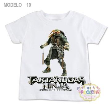 07408e7adc Camiseta Infantil 100% POLIESTER TARTARUGA NINJA 10