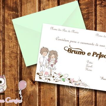 Convite Casamento Campo 7x10