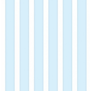 Papel de Parede Listrado Azul Claro e Branco Listras