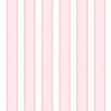 Papel de Parede Listrado Rosa e Branco Listras