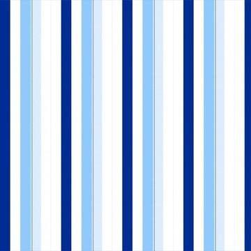 Papel de Parede Listrado Azul Claro Escuro e Branco Listras