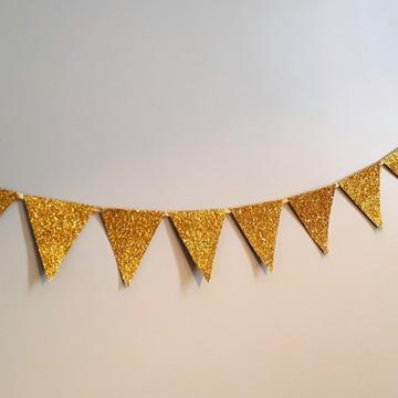 Varal de bandeirinhas Douradas
