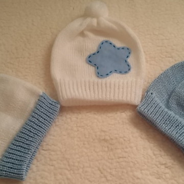 Kit touquinhas para bebê - menino