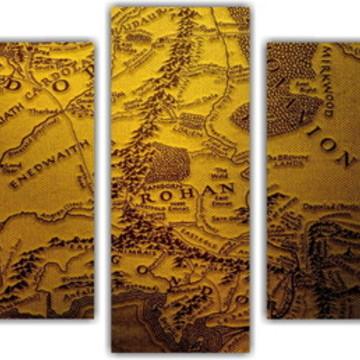 Quadro Decorativo Mapa Senhor Dos Anéis decoração interior