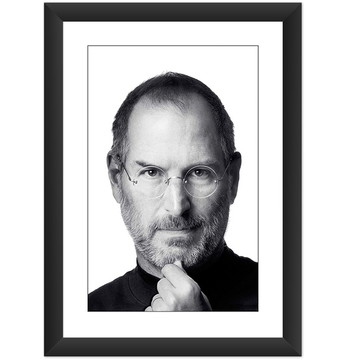 Quadro Steve Jobs Apple Preto Branco Poster Decoracao Cult