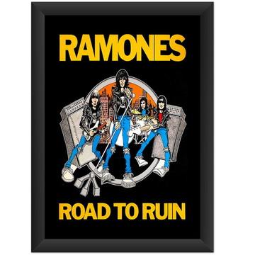 Quadro Ramones Road To Ruin Punk Rock Banda Decoracao Salas