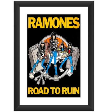 Quadro Ramones Road To Ruin Punk Rock Banda Decoracao Casa