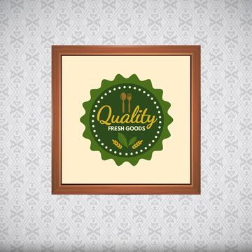 Quadro Comida Organica 20x20