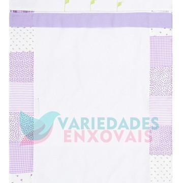 Capa para carrinho Lilás patchwork borboletinhas Florzinhas