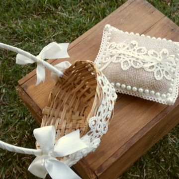 kit casamento Rústico Chic 2 peças