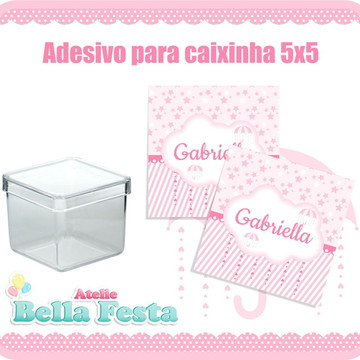 Adesivo para Caixinha 5x5