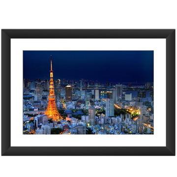 Quadro Japao Cidade Tokio Decoracao Cultura Japonesa 45x60