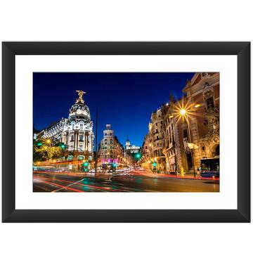 Quadro Madri Cidade Espanha Europa Decoracao Grande 45x60 cm