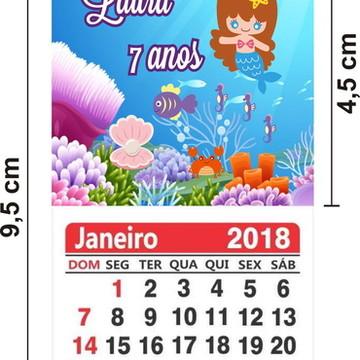 100 Imã de Geladeira com Calendário 2019