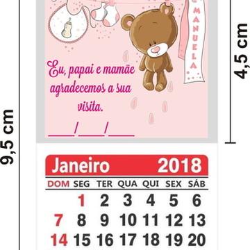25 Imã de Geladeira com Calendário 2019