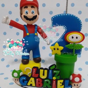 Topo de Bolo Mario Bross