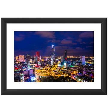 Quadro Vietnã Saigon Cidade Asia Cultura Oriental 45x60 cm