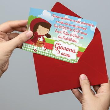 Convite Personalizado Chapeuzinho Vermelho