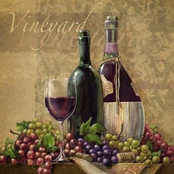 Quadro Decorativo Cozinha Vinhos e Massas