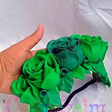 Tiara com Flores EVA. Carnaval ou Apresentações