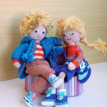 Amigurumi - bonecos namorados em crochê