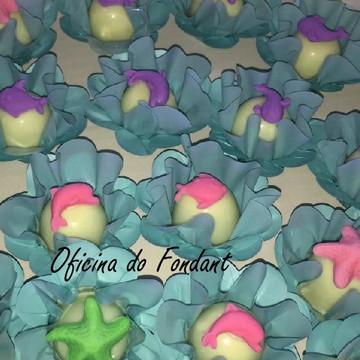 Fundo do mar aplique para cupcake