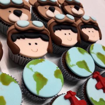 Mini cupcake Volta ao Mundo