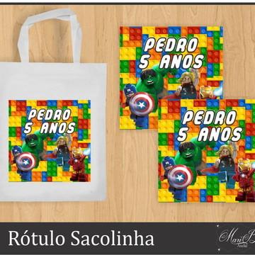 Rótulo Adesivo Sacolinha - Lego