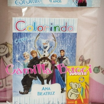 Kit Colorir Frozen