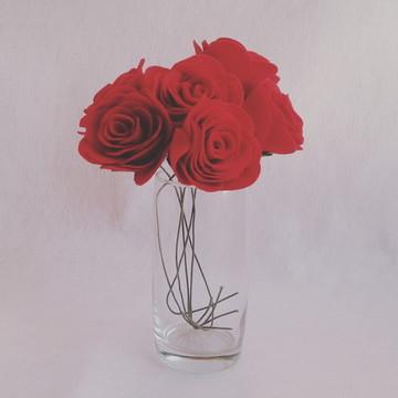 Flores de Feltro - Rosas Vermelhas