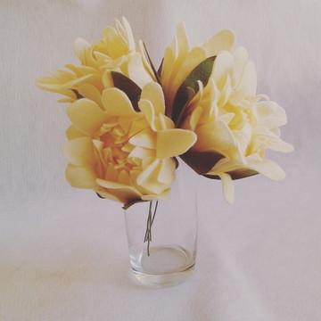 Flores de Feltro - Proteas Creme