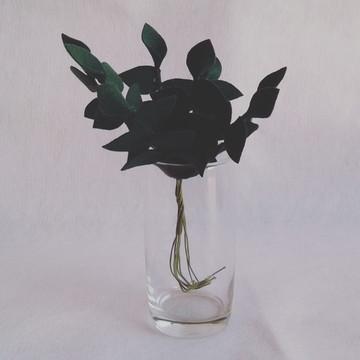 Flores de Feltro - Folhinhas Verdes