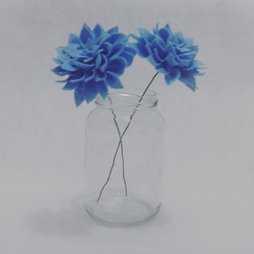 Flores de Feltro - Dálias Azuis