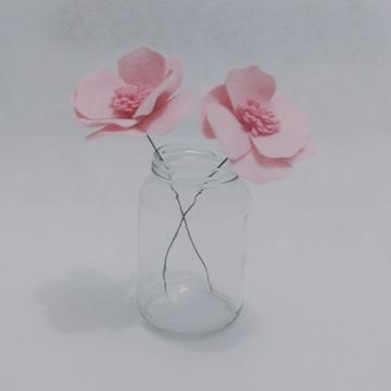 Flores de Feltro - Anêmonas Rosas