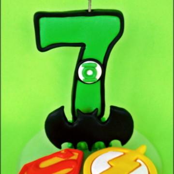 Vela Super Heróis 12cm- cópia proibida