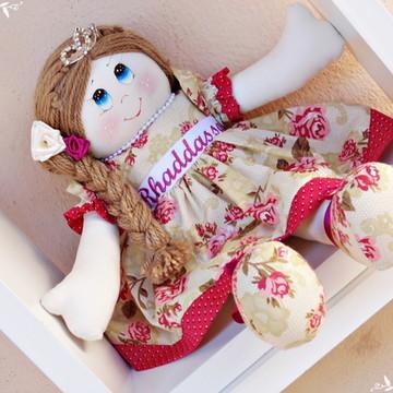 Boneca de pano princesa personalizada