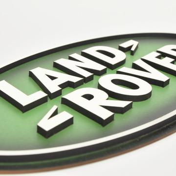 Placa Alto Relevo Land Rover