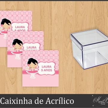 Adesivo Caixinha Acrílico -Bailarina