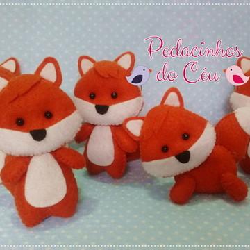 Lembrancinhas raposinhas feltro