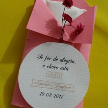 Lágrima de Alegria color com flor- rosa - PROMOÇÃO