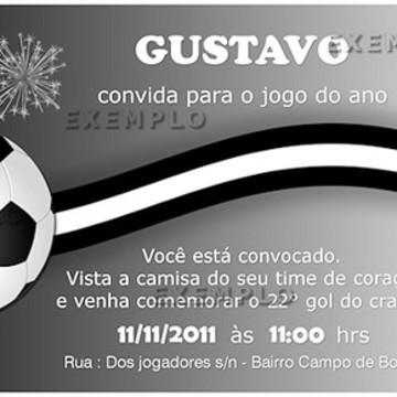 Convite Ingresso -Tema Futebol