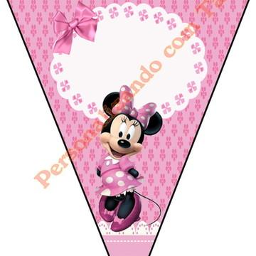 Bandeirola Minnie Rosa