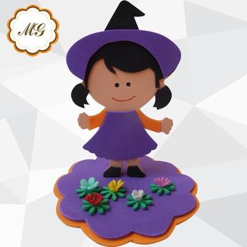 Enfeite Bruxinha em Eva - Halloween
