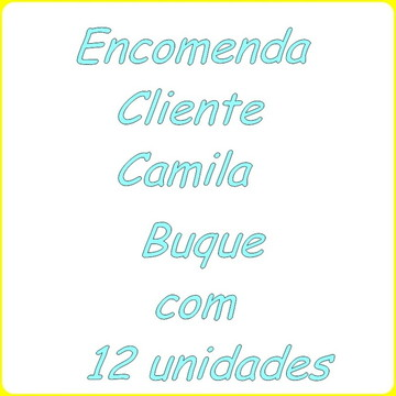 Encomenda cliente Camila Personalizada