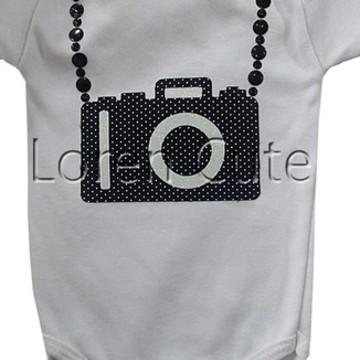 Body ou Camiseta Máquina Fotográfica