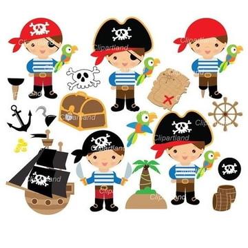 Kit Digital Pirata meninos