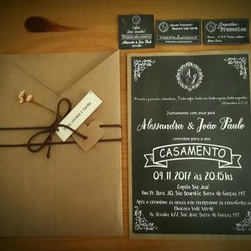 Kit Casamento Alê - Estilo Lousa